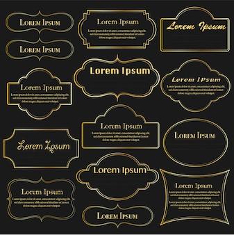 Set of golden dividers vintage frames