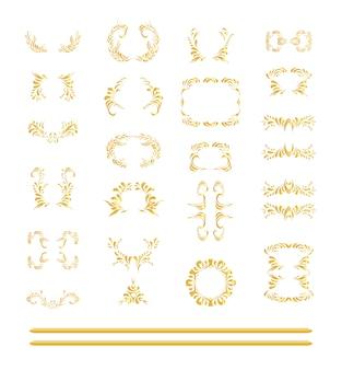 Set of golden elements