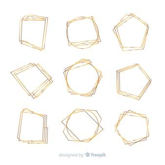 Set di cornici dorate