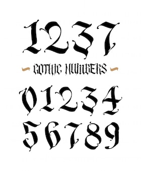 Set of gothic numbers