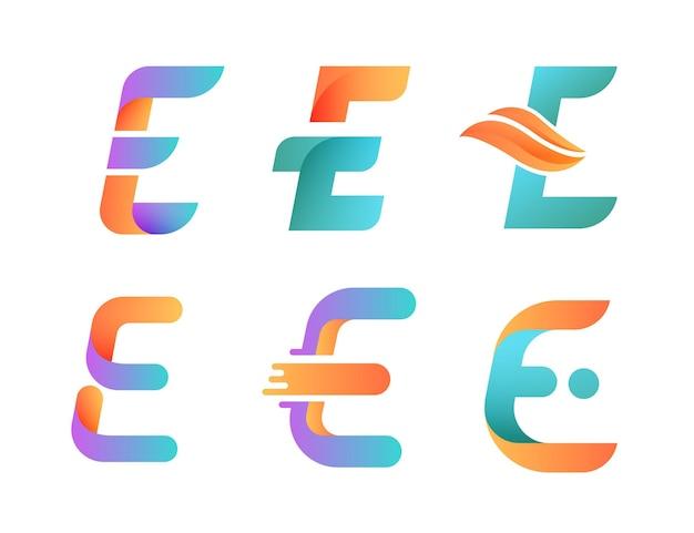 Set of gradient o logo templates