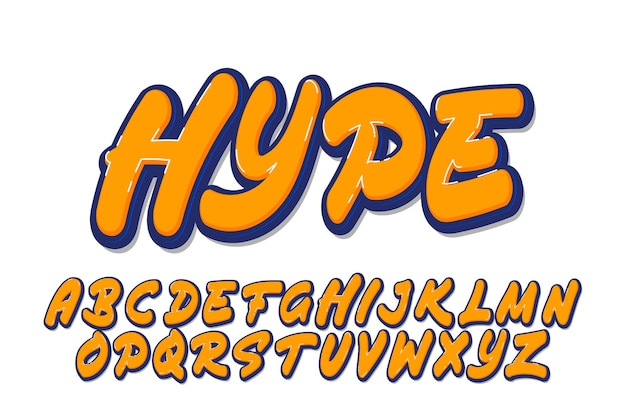 Set of graffiti alphabet design