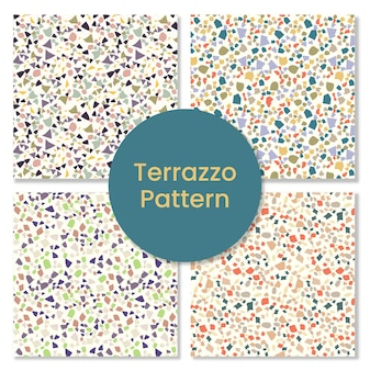 Set of granite terrazzo pattern.