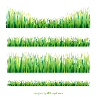 Set of grass broders with different sizes