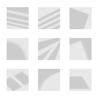 Set of gray shadows of different shapes with straight