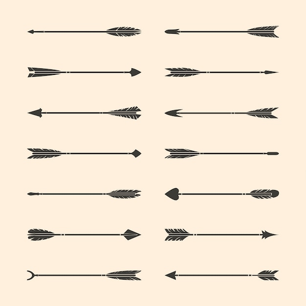 Set of gray stylish arrow vectors