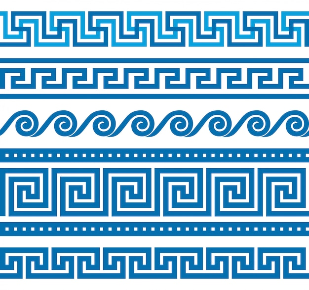 Set of greek borders