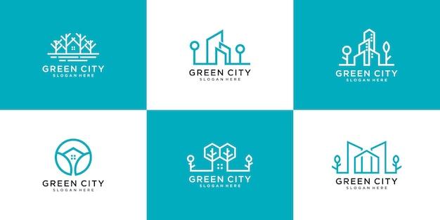緑の街のロゴを設定