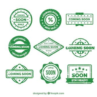 Set di verde prossimi adesivi