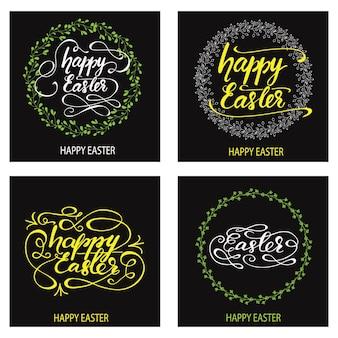 Set of greeting card designs for easter. vector illustration.