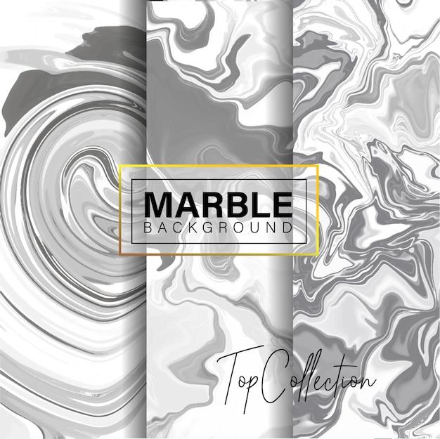 Set of grey marble texture design