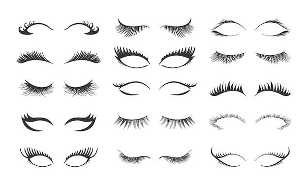Set for growing the eyelashes isolated on white background