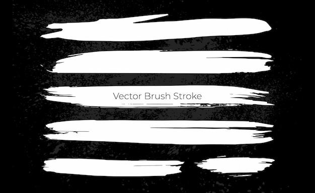 Set of grunge brush stroke template