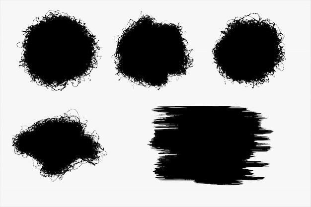 Set of grunge brush template