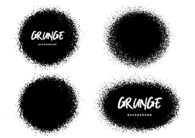 Set of grunge brush template