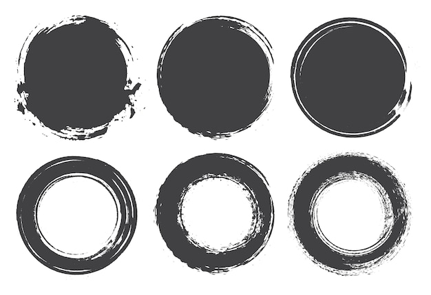 Set of grunge circles
