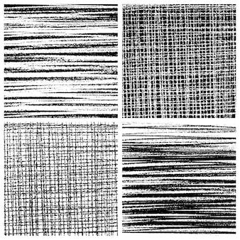 Set of grunge lined squares