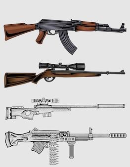 Установить оружие