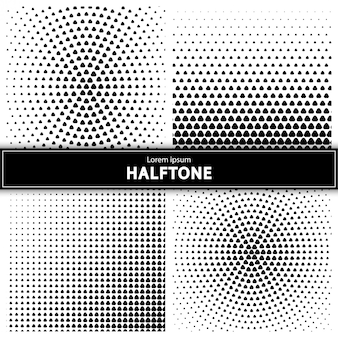 Set of halftone background
