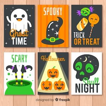 Set of halloween cards