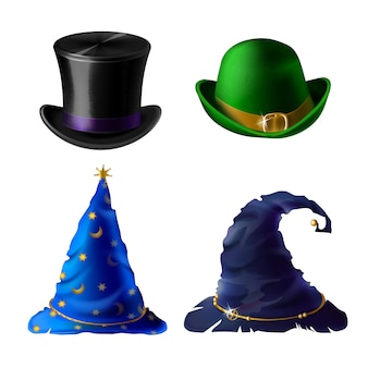 Set of halloween clothing isolated on white background.
