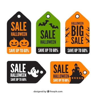Set of halloween deals labels