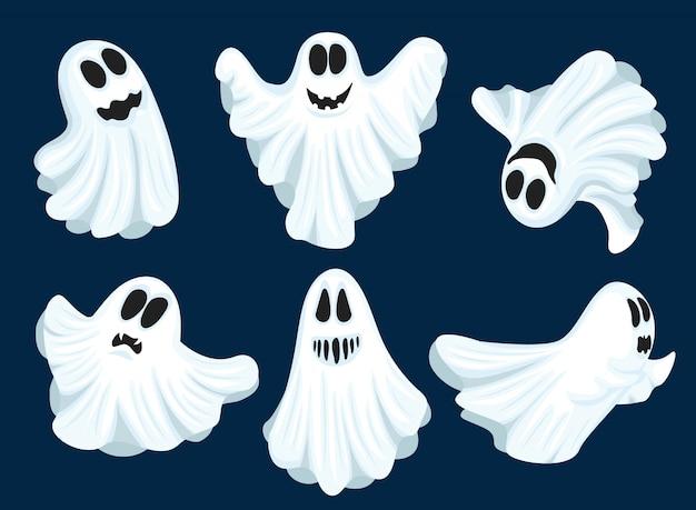 Set of halloween ghosts.