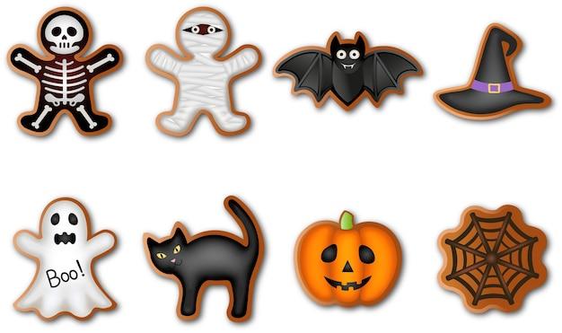 Set of halloween gingerbreads