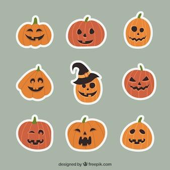 Set di adesivi zucca di halloween