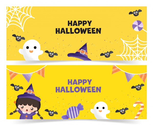 Set of halloween s .