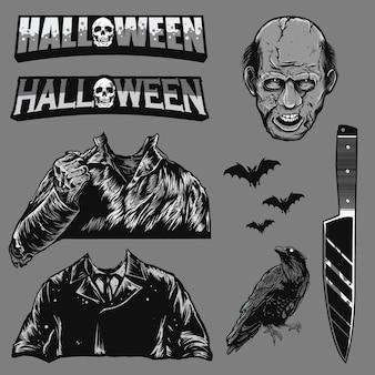 Set of halloween