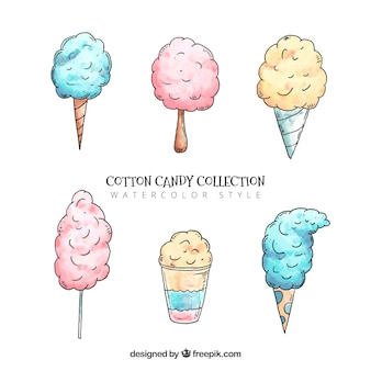 Set of hand drawn candy cottons