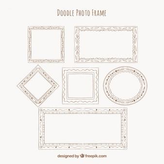 Set of hand drawn decorative frames