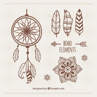 Set of hand drawn ethnic ornaments