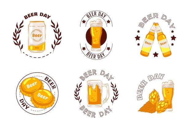 Set of hand drawn oktoberfest badge