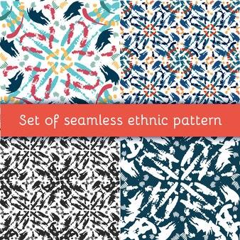 손으로 그린 그린 완벽 한 패턴을 설정합니다.