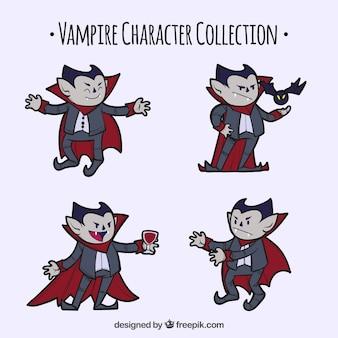 Set di vampiri disegnati a mano