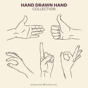 Set of hand sketches