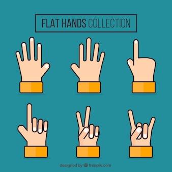 Set di mani in design piatto