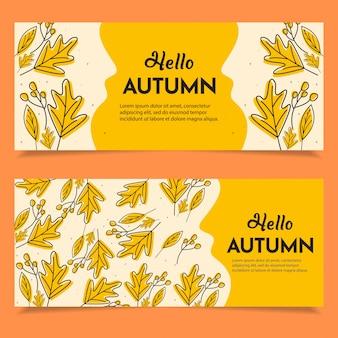 Set of happy autumn banner