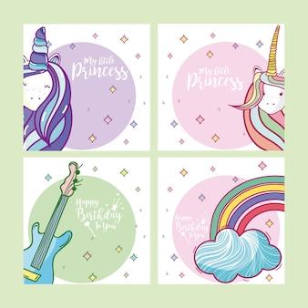 Set of happy birthday card