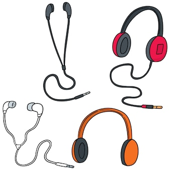 Set of headphone and earpiece