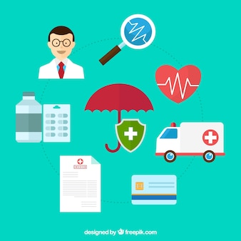 Set of health insurance elements