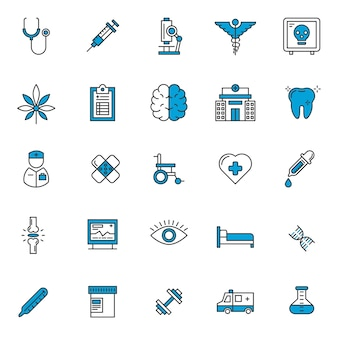 Set of healthcare icons