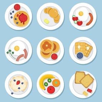 Set of healthy food for breakfast