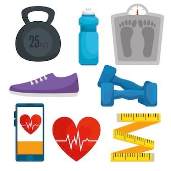 Set healthy lifestyle with exercise balance