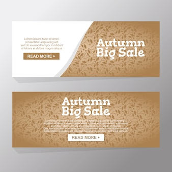 Set of hello autumn nature big sale banners