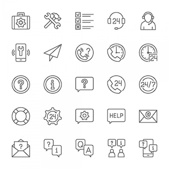 Set of help and support icons