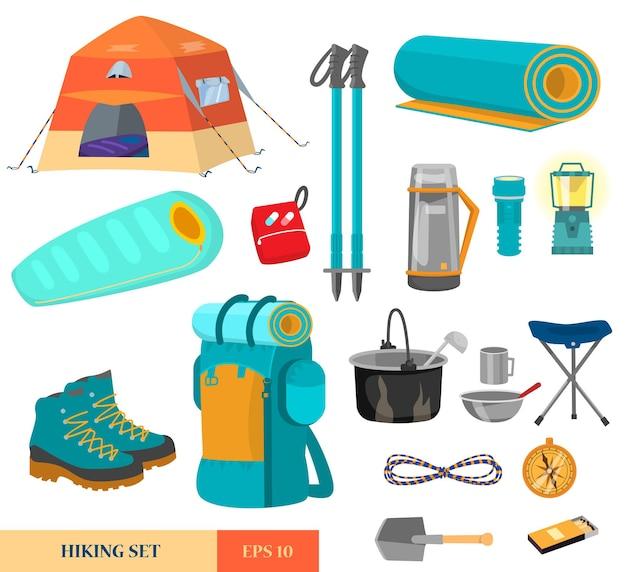 Set of hiking equipment