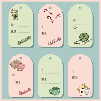 Set of hipster gift tags.